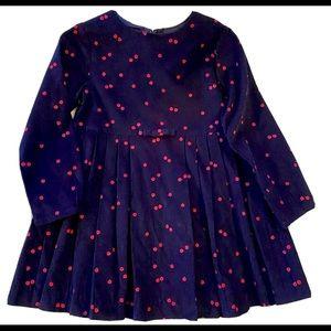 Jacardi Dress Fine Corduroy Ladybug